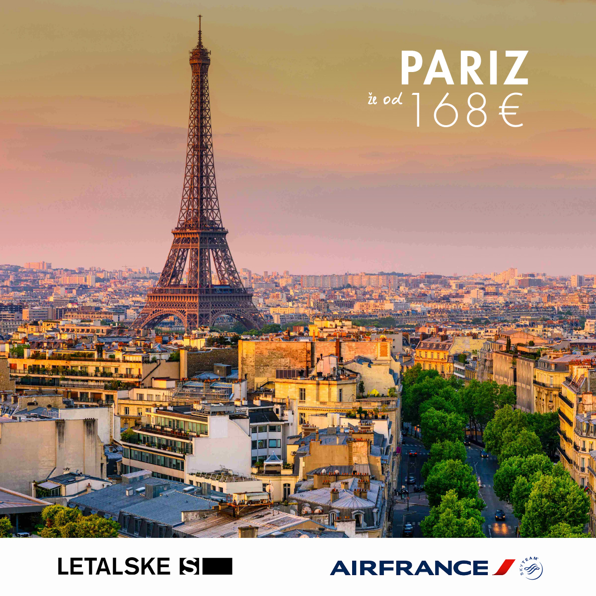 Pariz že od 168 EUR