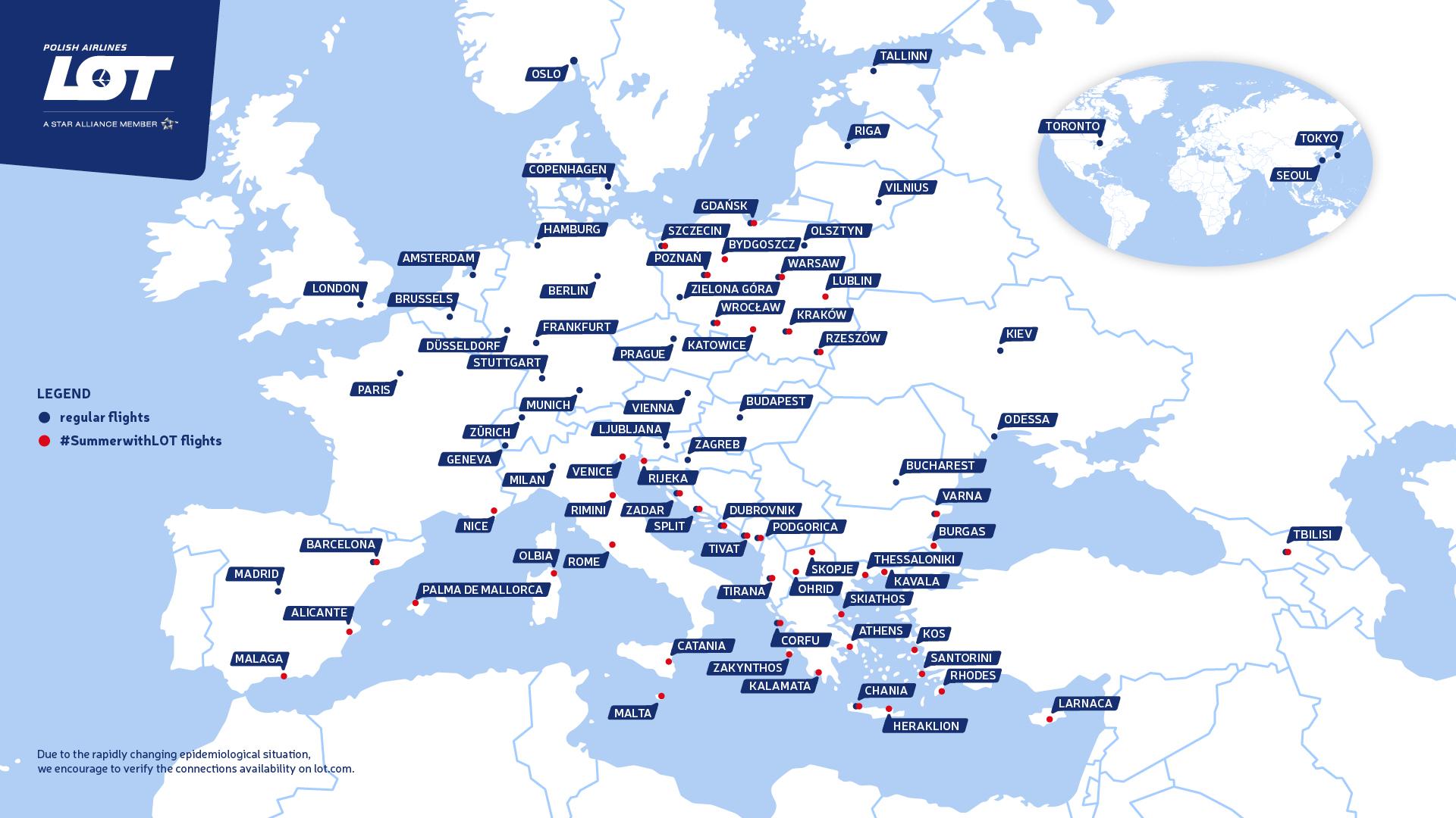Mapa destinacija